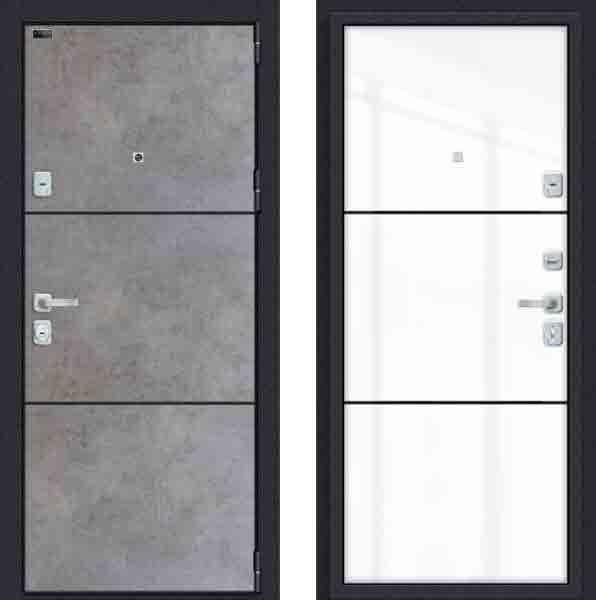 Двери входные Porta M П50. П50 (AB-4) Dark Concrete/Angel