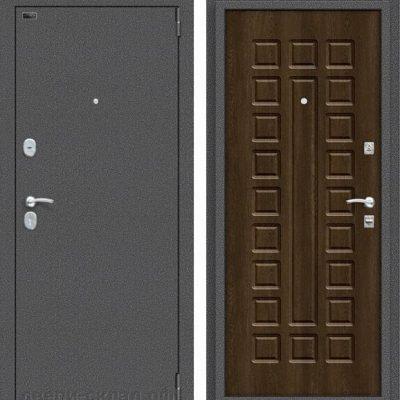 Двери входные Реновация Антик Серебро/Dark Barnwood