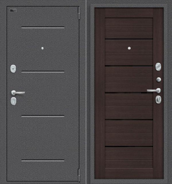 Двери входные Porta S 104. П22 Антик Серебро/Wenge Veralinga
