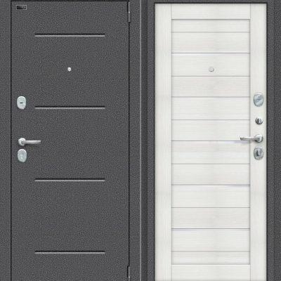 Двери входные Porta S 104. П22 Антик Серебро/Bianco Veralinga