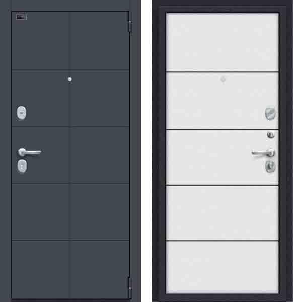 Двери входные Porta S 10. П50 (AB-6) Graphite Pro/Virgin