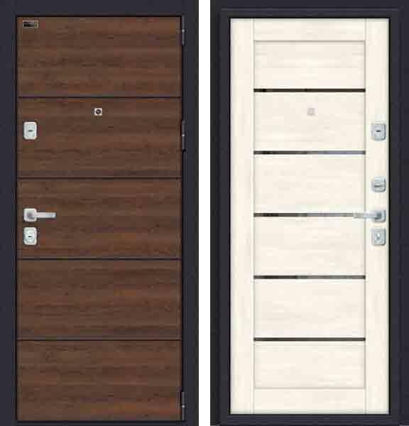 Двери входные Porta M П50. Л22 (AB-6) Tobacco Greatwood/Nordic Oak